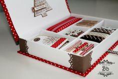 Scatola regalo con tutto il necessario per fare i pacchetti. DIY box with Christmas presents kit