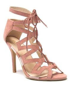 Make Way for Wonderful Caged Lace-Up Heels