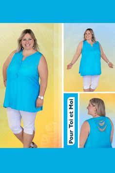 Tunique coton grande taille fluide. Existe en différents coloris. #ronde#mode#xxl#tunique#couleurs Plus Size Clothing, Tunic, Man Women, Colors, Cotton, Fashion Styles