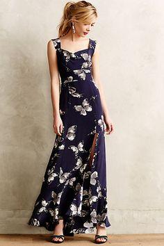 Silk Aflutter Maxi Dress - anthropologie.com #anthroregistry