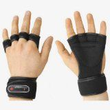cool GYM Weight Lifting Gloves Health Fitness Dumbbell Wrist Wrap (Black, L (for men))