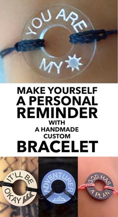 Make a bracelet with the words & symbols that matter to you, in any language.