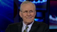 "Donald Rumsfeld Compares Obama to ""a Trained Ape"" on Fox News- Asshat, war criminal and a racist to boot. Charming."