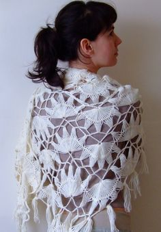 Hairpin Triangular Shawl by CozySeason: $69. #Shawl #CozySeason