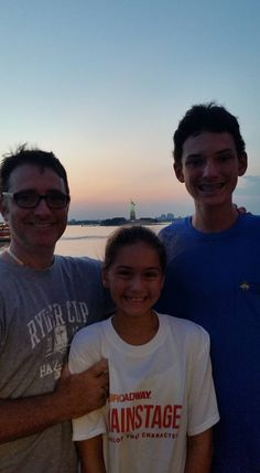 Rynne and Luke with Tevis on trip to New York. July 2017.