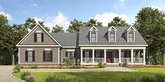House Plan 58288 | Country Southern Plan with 2488 Sq. Ft., 3 Bedrooms, 3 Bathrooms, 2 Car Garage