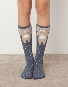 Long bear print socks - Socks - Accessories - United Kingdom