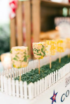 Image from Fourth of July Soiree in Chicago, IL in Chicago, IL, USA, posted by Christine Janda Design & Events 4th Of July Celebration, Fourth Of July, Food Displays, Buffet Displays, America Themed Party, Blue Drinks, Food Stations, Milestone Birthdays, Holiday Parties