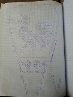 Mania Przerabiania's media content and analytics Thread Crochet, Crochet Doilies, Knit Crochet, Filet Crochet Charts, Graph Paper, Needlework, Cross Stitch, Bullet Journal, Butterfly