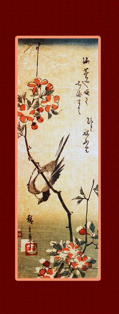 Instant Download print art. Flowers and Birds 3. Asian by CredoArt, $12.00