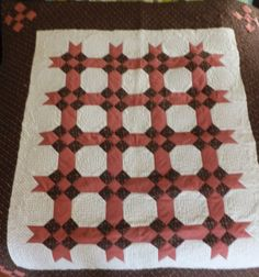 Snowball and 9-patch quilt