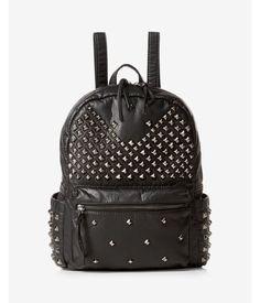 Stud Embellished Backpack Women s Black Studded Backpack f3e0aa3ff3