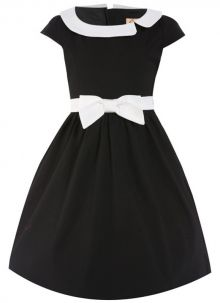 Shop cute and stylish vintage kids clothes at Lindy Bop. Find a wide childrenswear collection available for boys and girls and check out the matching adult versions for extra cuteness. Cute Black Dress, Black Party Dresses, Retro Fashion, Kids Fashion, Vintage Fashion, Vintage Kids Clothes, Girls Dresses, Dresses For Work, Cute Outfits For Kids