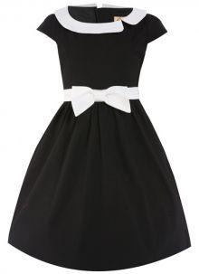 LindyBop dětské šaty Mini Chloe, černé