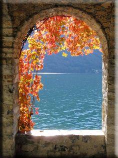 Autumn on Lake Lugano, Italy by Massimo Ciarloni