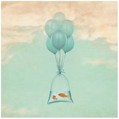 Flight to Freedom Mini Art Print by Vin Zzep - Without Stand - x Framed Art Prints, Canvas Prints, Dp For Whatsapp, Nature Images, Image Hd, Surreal Art, Art Boards, Thing 1, Balloons