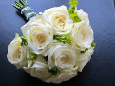Ivory rose handtied bouquet