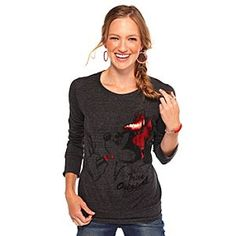 FOR ALI: Disney Minnie Mouse Tee for Women | Disney StoreMinnie Mouse Tee for Women - Red foil accents and black rhinestuds highlight Minnie's characteristic style on this long-sleeve top. A sporty tee with a distinctive comfort all its own, it's the perfect fit for fun.