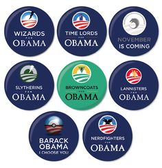 Nerds for Obama Buttons