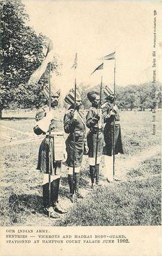 SENTRIES - VICEROYS AND MADRAS BODY-GUARD 1902 Coronation