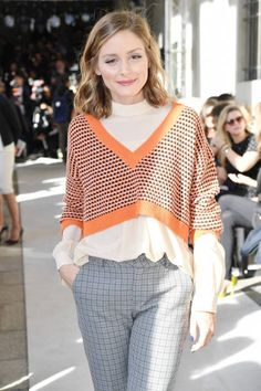 Olivia Palermo attends the Max Mara show during Milan Fashion Week Spring/Summer 2018 on September 21 2017 in Milan Italy