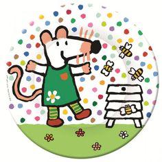 Mausi Maus und Bienen Kinderteller aus Melamin von Petit Jour Paris - auf Rechnung bestellen, Bonuspunkte sammeln, DHL Blitzlieferung!