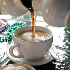 Classic New Orleans-style coffee and chicory. Serve during Mardi Gras season or anytime.