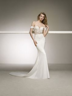 Sale Absorbing Lace Wedding Dress Sexy Sheer Bodice Lace Appliques Mermaid Wedding Dresses 2019 Off The Shoulder Wedding Gowns Sweetheart Crepe Wedding Dress, Wedding Dress Backs, Making A Wedding Dress, Fairy Wedding Dress, Pronovias Wedding Dress, Wedding Dresses 2018, Classic Wedding Dress, Lace Mermaid Wedding Dress, Mermaid Dresses