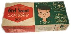 Image result for vintage girl scout cookie box