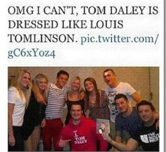 Hmmmmm, looks good on him. I'm really starting to think Tom wants to be part of 1D, can he sing?? (: xx