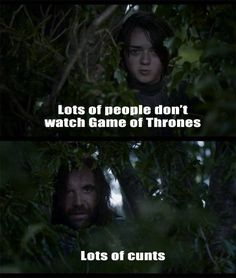 Seriously would watch The Hound & Arya Show all day long...♊️ •Game of Thrones - Humor•