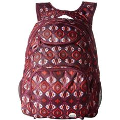 Roxy Shadow Swell Backpack (Grapewine Gerona Nights) Backpack Bags ($31) ❤ liked on Polyvore featuring bags, backpacks, strap bag, patch backpack, pocket backpack, mesh bag and roxy bags