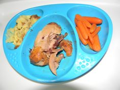 5 Sept 2012    2 pins in one: Dinner tonight is mashed potatoes, super garlicky chicken legs (http://pinterest.com/pin/132011832798331569/) and honey-glazed carrots (http://pinterest.com/pin/132011832798334369/). Max loved it all!