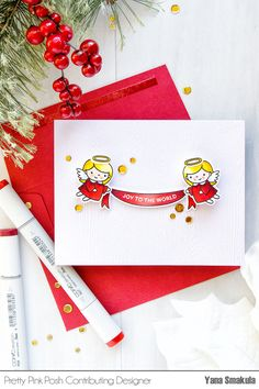 Pretty Pink Posh | Christmas Angel Action Wobble Card. Video tutorial #cardmaking #stamping #christmascard