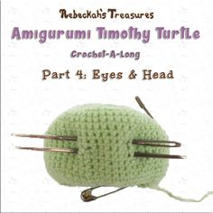 Timothy Turtle #CAL Part 4: Eyes & Head via @beckastreasures / Join in the fun as we crochet this adorable amigurumi turtle! Free crochet pattern