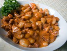 Pikantná fazuľa so slaninou