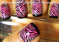 zebra-nails-pink- and-black  http//:abnormnailbehavior.blogspot.com