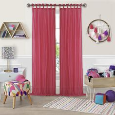 Transform your view with the Greta Crushed Sheer Tie Top Window Curtain Panel. The sheer design allows light to softly filter into the room, while the crushed texture provides a touch of privacy. A tie top panel adds to the breezy, relaxed look. Tab Top Curtains, Sheer Curtain Panels, Grommet Curtains, Window Panels, Drapes Curtains, Curtain Rods, Window Coverings, Sheer Drapes, Curtains Living