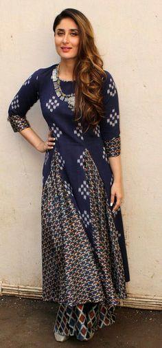 Makeup & Looks - Kareena Kapoor Wedding Pakistani Dresses, Indian Dresses, Indian Outfits, Indian Attire, Indian Ethnic Wear, India Fashion, Ethnic Fashion, Kurta Designs, Blouse Designs
