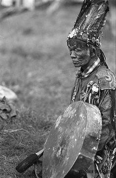 Pictured here is a Native American shaman, or medicine man. Medicine men played a critical role in native religion, and provided a crucial role as links to nature and the spirit world. #GeorgeTupak