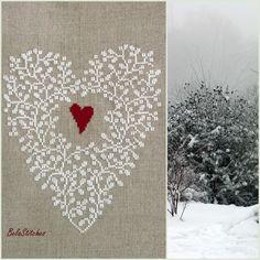 Bela Stitches: Aura jak na zamówienie! gorgeous cross stitch heart