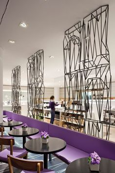 LOVE those wire sculptures! Bar Rinascente in Milan by Martino Berghinz Studio Design Café, Cafe Design, Store Design, Restaurant Lounge, Restaurant Design, Commercial Interior Design, Commercial Interiors, Interior Architecture, Interior And Exterior