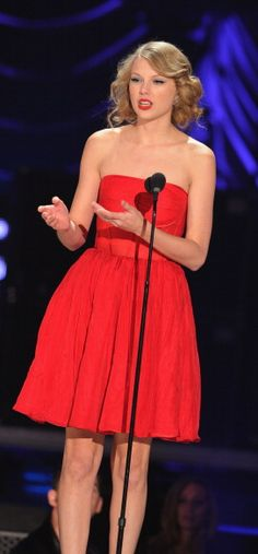 Taylor Swift at the CMT Awards Wearing PORCELAIN