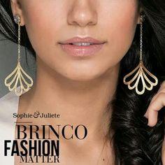 Compre aqui: www.sophiejuliete.com.br/estilista/nandabordon Brinco fashion matter banho ouro 18k drusa titanio luxo