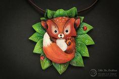 Cutie Fox Necklace by Mandarin Duck woodland by MyMandarinDucky