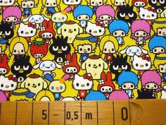1 M Hello kitty  fabric Yellow color Japanese by HanamiBoutique, $27.50