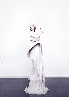 Coppélia Pique Collections by Quentin Legallo #fashion #editorial #bunny #white #dress #gown