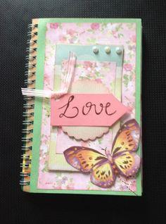 Caderno de anotações #scrapbooking #notes #love