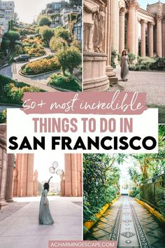 50+ Most Incredible Things to do in San Francisco, California. Heading to San Francisco and looking for things to do? Whether you are visiting for a few days or a week, this list will come in handy to pick and choose based on your interests. Click to learn more! San Francisco Things to do in | California Travel | San Francisco Itinerary| Visit San Francisco Bucket List Travel Guides, Travel Tips, Travel Destinations, Usa Travel, Luxury Travel, Life Inspiration, Travel Inspiration, Best States To Visit, Visit Usa