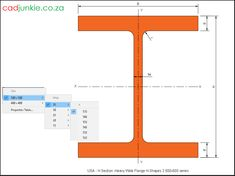 Steel Sections: USA: H Section Heavy Flange (500x500 Series) CAD Format: AutoCAD 2013  Block Type: 2D Dynamic (1x67 Lookup Tables)  Units: mm  Description:  A dynamic block made using the ANSI Tables.  The block is parametric and uses lookup tables to produce 67 different blocks. The block can be edited to user dimensions with the standard AutoCAD Properties editor Steel Properties, Cad Blocks, Autocad, Editor, 2d, Tables, The Unit, Type, Mesas